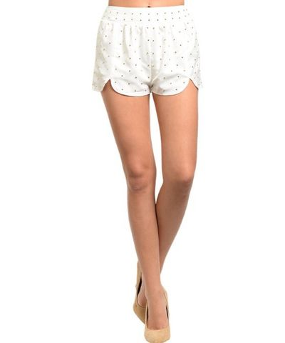 Ivory,gold,studded,shorts,Ivory gold studded shorts