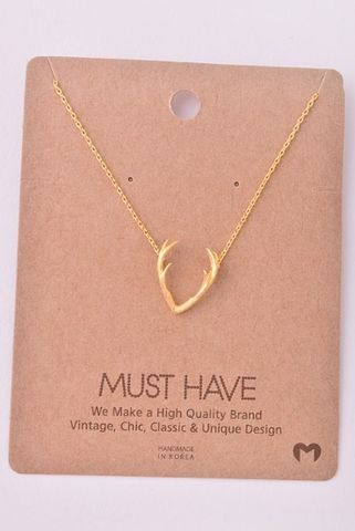 Antler,Necklace:,Gold,Antler necklace