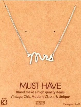 Mrs.,Silver,Necklace,Mrs. Silver necklace