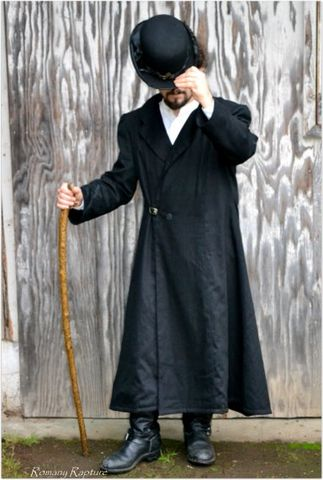Mens,,Steampunk,,Neo,Victorian,,Long,Black,Overcoat,Steampunk Clothing, Mens Steampunk, Neo Victorian, Gothic, Gothic Mens Clothing, Overcoat, Steampunk Overcoat, Long Black Coat, Steampunk Style