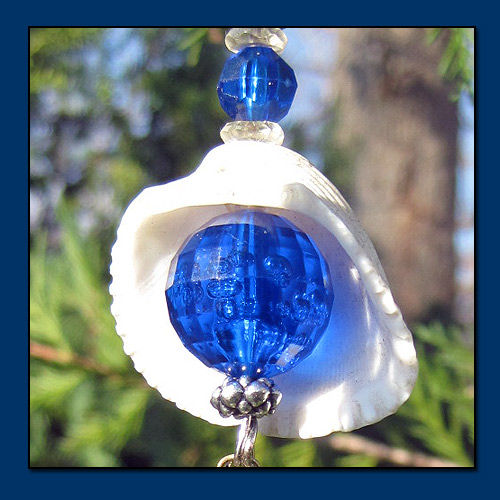 Blue Eye Catcher Ornament with Raindrop Crystal - product images  of