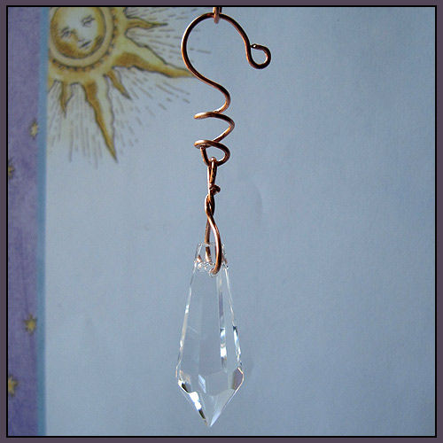 Icicle Chandelier Prism and Copper Wire Eye Catcher - product image
