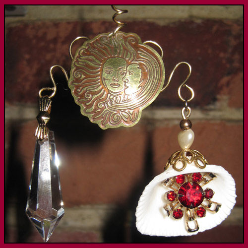Ruby Red and Brass Eye Catcher For Lovers - product images  of