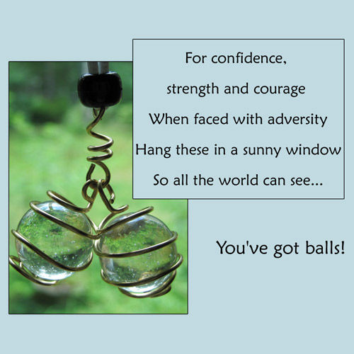 Golden Bronze Wire Wrapped Balls Eye Catcher - product image