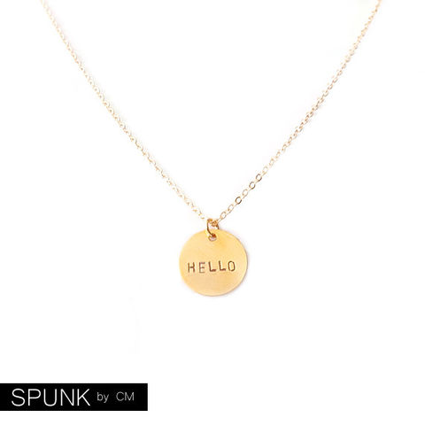 Minimalist,Gold,Chain,Necklace,-,Personalized,Tag,The,Basics:,Circle,Hello,Jewelry,friendship_necklaces,personalized_jewelry,minimalist_necklace,gold_chain_necklace,bridesmaid_necklace,wedding_jewelry,jewelry_for_teens,gold_tag_necklace,promise_jewelry,hello_gold_necklace,gold_charm_necklace,quirky_nerd_jewelry,spunkbyc