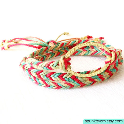 Gold,Hemp,Bracelet,-,Braided,Hemp,,Brass,Red,,Green,,Yellow,,The,Bohemian:,Rasta,Triple,Wrap,Jewelry,braided_bracelet,wrap_hemp_bracelet,boho_jewelry,friendship_bracelets,braided_hemp,jewelry_for_teens,organic_ecofriendly,hippie_jewelry,silver_hemp_bracelet,gold_hemp_bracelet,wedding_favors,beach_surfer_jewelry,black_friday,hemp,brass