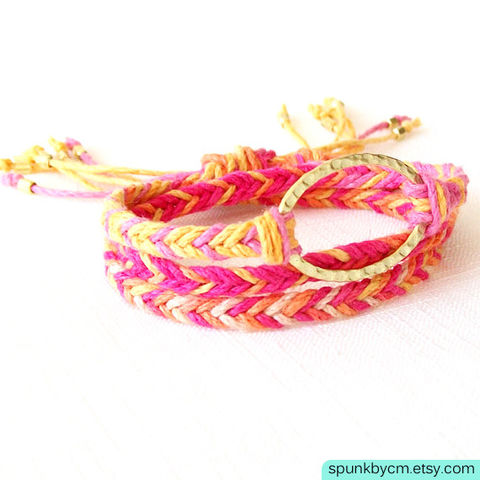 Gold,Hemp,Bracelet,-,Braided,Hemp,,Brass,Pink,,Orange,,Yellow,,The,Bohemian:,Horizon,Triple,Wrap,Jewelry,braided_bracelet,wrap_hemp_bracelet,boho_jewelry,friendship_bracelets,braided_hemp,jewelry_for_teens,organic_ecofriendly,hippie_jewelry,silver_hemp_bracelet,gold_hemp_bracelet,beach_surfer_jewelry,beach_wedding_favors,black_friday,hemp,br