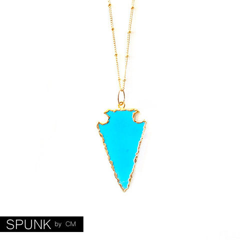 Gold,Chain,Gemstone,Necklace,-,Magnesite,Turquoise,,The,Bohemian:,Satellite,Arrowhead,jewelry, necklace, gold-chain-necklace, turquoise-gold, arrowhead-necklace, turquoise-necklace, turquoise-magnesite, toronto-jewelry, spunkbycm-etsy, gemstone-necklace, magnesite-necklace, minimalist-jewelry