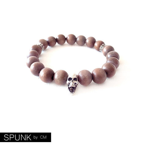 Wood,Beaded,Stretch,Bracelet,-,Coconut,Palm,Tree,Mocha,,Silver,The,Basics:,Skull,10mm,Round,Jewelry,jewelry_for_men,stretch_bracelet,minimalist_bracelet,boho_jewelry,stretchy_bracelet,jewelry_for_teens,everyday_bracelet,simple_bracelet,beaded_bracelet,bracelets_for_men,spunkbycm_etsy,toronto_jewelry,silver_wood,coconut palm tree wood,el