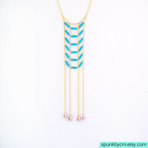 Gold,Chain,Gemstone,Necklace,-,Magnesite,Turquoise,,White,The,Bohemian:,Fringe,Chest,Plate,jewelry, necklace, gold-chain-necklace, turquoise-gold-white, gemstone-necklace, turquoise-magnesite, toronto-jewelry, spunkbycm-etsy, layered-gold-chain, boho-jewelry, chestplate-necklace, fringe-necklace