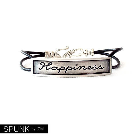 Round,Leather,Bracelet,-,Affirmation,Word,Silver,,Black,The,Basics:,2mm,Double,Strand,Happiness,Jewelry,jewelry_for_men,couples_bracelets,leather_anniversary,promise_jewelry,wedding_favors,leather_bracelet,jewelry_for_teens,personalized_jewelry,engraved_bracelet,affirmation_bracelet,happiness_bracelet,silver_and_black,black_friday,genuine l