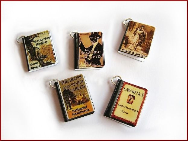 How To Make Book Cover Earrings ~ Authors writers your book cover custom miniature