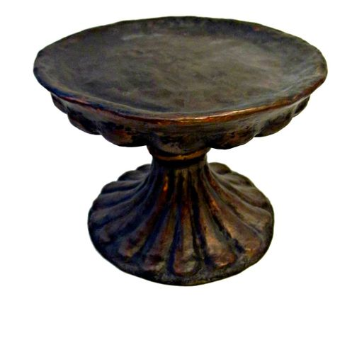 Handmade,Vintage,Style,Decorative,Paper,Mache,Pedestal:,Dorian,paper mache pedestal, rustic mache pedestal, vintage style pedestal, recycled decor accents, ecofriendly decor, paper sculpture, plate stand