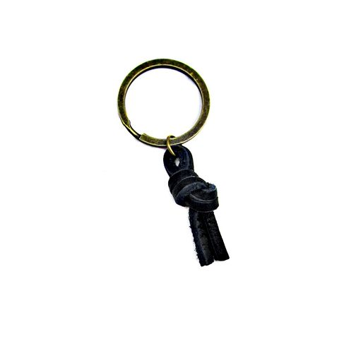 Black,Leather,Knot,on,Rustic,Brass,Keyring:,Portland,black leather keyring, unisex keyring, mens keychain, handmade leather keyring, leather knot accessories, rustic brass keyring, rustic knot purse charm, bag accessories
