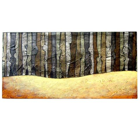 Small,Original,Abstract,6x12,Acrylic,Painting,on,Canvas:,Season,#1,abtract acrylic painting on canvas, original art on canvas, small metallic acrylic painting on canvas, abtract forest painting, abstract winter painting, small painting on canvas, neutral colored painting