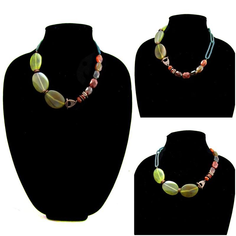 Agate Couture Stone Statement Necklace: Sidra - product images  of