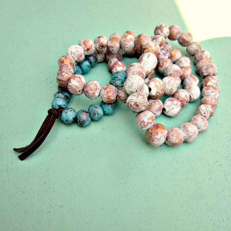 Super Long Paper Mache Bead Wearable Wall Decor Necklace Shrine Product Images Of