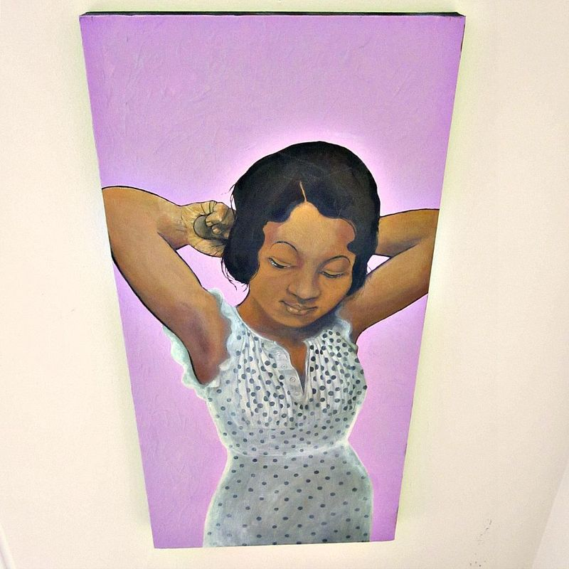 Original Acrylic Painting of a Retro African American Woman on Canvas: Meta Lula - product images  of