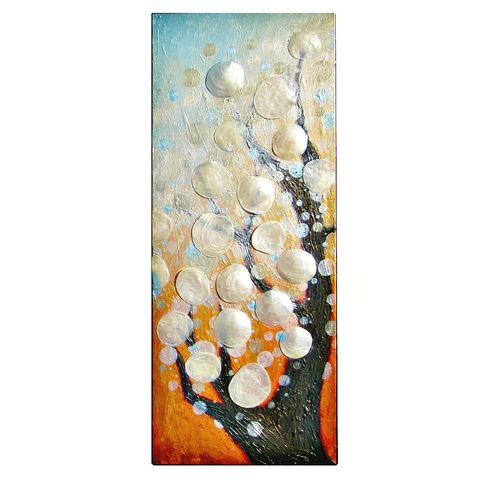 Original,Acrylic,Abstract,Bokeh,Tree,Painting,on,Canvas,with,Capiz,Shells:,A,Certain,Hour,acrylic tree painting on canvas, abstract bokeh tree painting, acrylic tree painting on canvas, dreamy hazy light painting, ooak painting, original abstract tree art, nature art