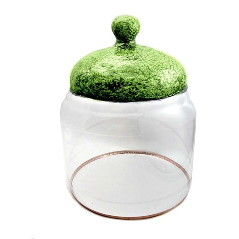 Handmade,Crackled,Green,Paper,Mache,and,Plastic,Cloche,Jar:,Sylvia,paper mache cloche, handmade paper mache decor accents, papier mache greenhouse, paper mache bell jar, crackled green paper mache jar, paper mache gardening, salvaged paper sculpture, plastic cloche
