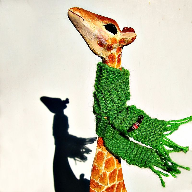 Giraffe Figurine, Paper Mache Recycled Art Toy Sculpture: Cecile - product images  of