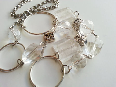 Clear,and,Silver,Mix,Beaded,Chain,Necklace,-,Willow,Jewelry,clear_necklace,silver_necklace,long_necklace,chunky_necklace,asymetrical_necklace,beaded_necklace,chain_necklace,link_necklace,one_of_a_kind,clear_and_silver,transparent_necklace,lightweight_necklace