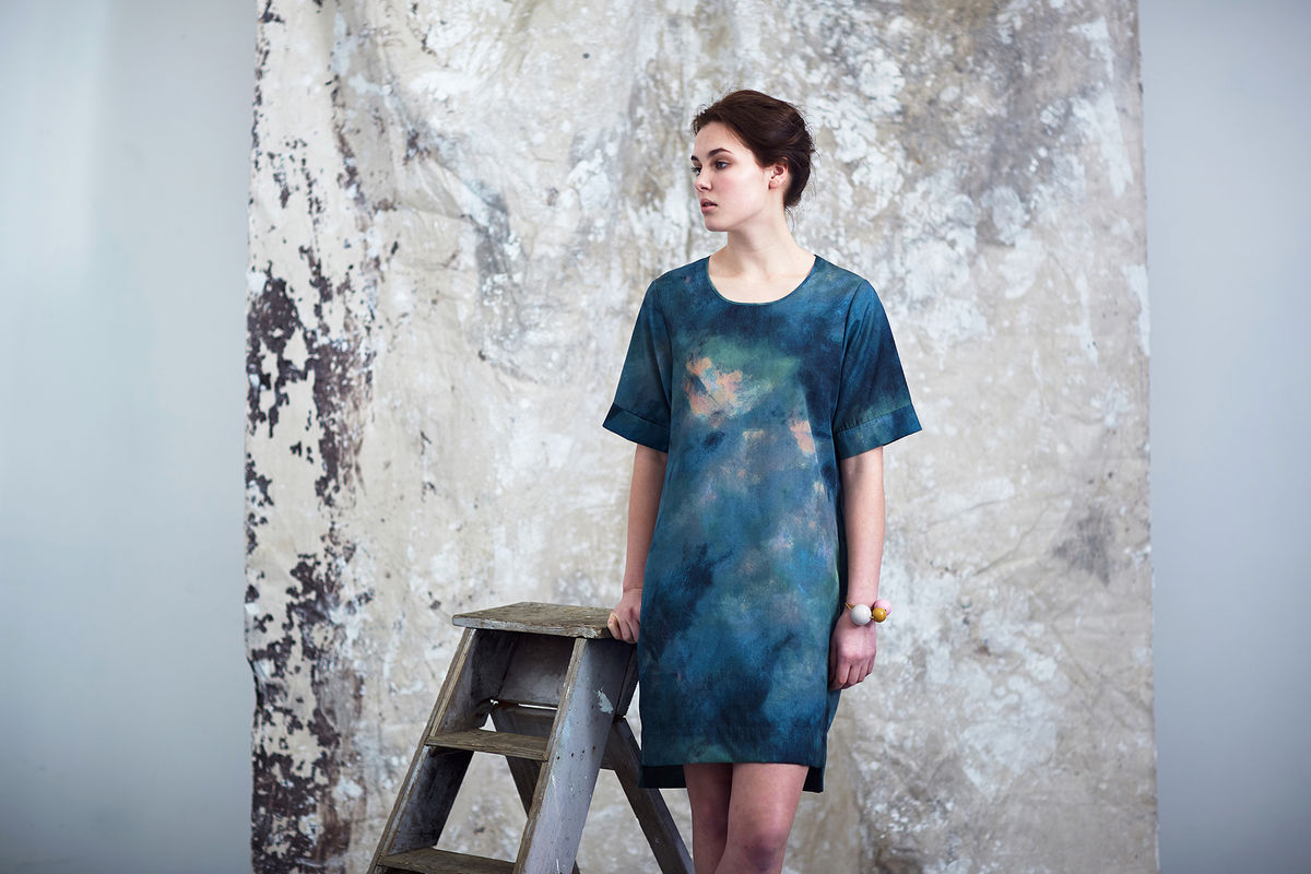 Summer Breeze Abstract Shift Dress  - product image