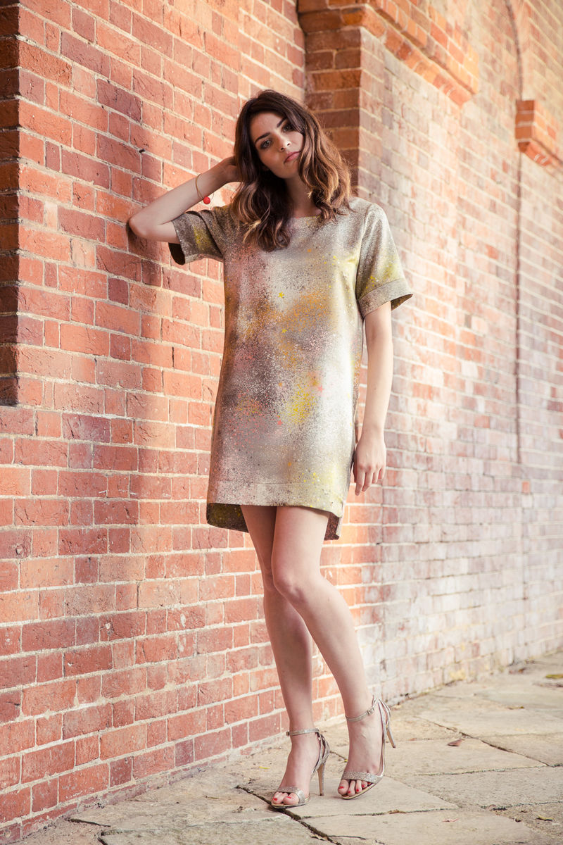 Rae of Light print Dress - Inspired by the artwork of Fiona Rae - product image