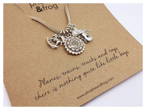 For,a,mum,to,be,expecting,little,Boy.,friend, necklace, personalised, baby boy, card, sentiments, mum to be, pregnant, charms