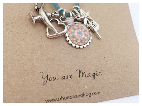For,someone,special.,friend, necklace, personalised, card, sentiments, charms, magic, special