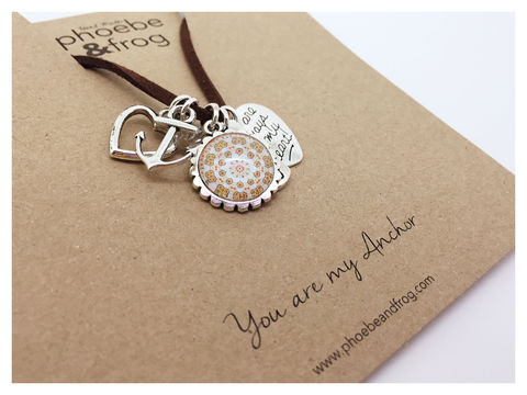 For,someone,special.,anchor, necklace, personalised, special, card, sentiment, charms, friends