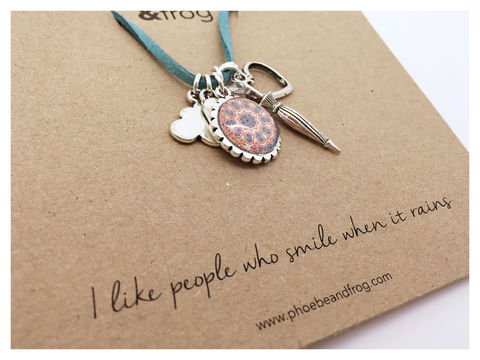 FOR,SOMEONE,SPECIAL.,happy, necklace, personalised, special, card, sentiment, charms, sunshine, rain
