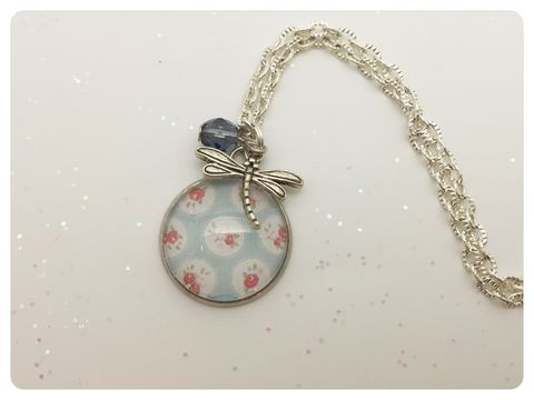 Pale,Blue,Chic,Pendant,necklace, pendant, modern, colourful, cabochon, pale blue, shabby chic