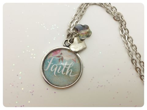 Faith,Pendant,necklace, pendant, modern, colourful, cabochon, faith