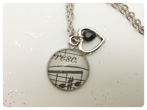 Music,Notes,Pendant,necklace, pendant, modern, colourful, cabochon, music, notes