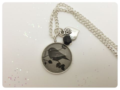 Little,Bird,Pendant,necklace, pendant, modern, colourful, cabochon, bird