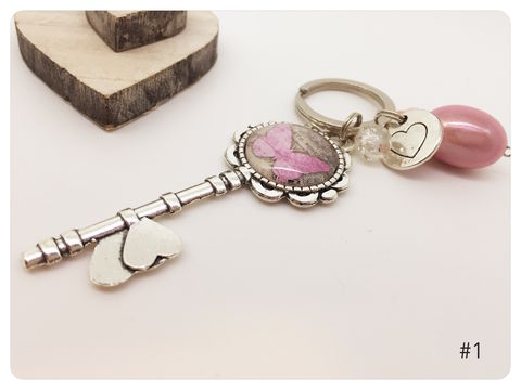 Vintage,Butterfly,-,Silver,Tone,Keyring,keyring, butterfly, vintage, silver