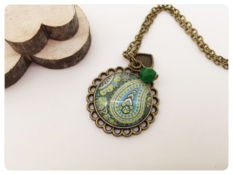 Paisley,Pendant,necklace, pendant, paisley, colourful, beads
