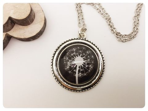 Dandelion,Pendant,necklace, pendant, colourful, beads, dandelion