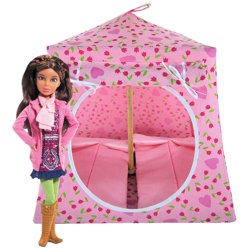 marvelous Barbie Tents Part - 5: Light pink Toy Play Pop Up Tent, 2 Sleeping Bags, flower u0026amp; ...