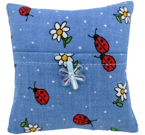 Tooth,Fairy,Pillow,,blue,,ladybug,&,flower,print,fabric,,iridescent,bead,trim,for,girls,blue tooth fairy pillow,fabric tooth fairy pillows,tooth fairy,tooth fairy pillows, ladybug and flower print fabric pillow,unique gift for girls,pillow for dolls, pillow with pocket, pillow tooth fairy,tooth pillow,child gift, 12. iridescent flower bead t