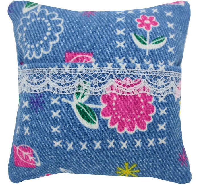 Tooth Fairy Pillow Light Blue Star Amp Flower Print Fabric