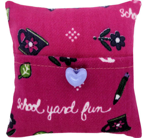 Tooth,Fairy,Pillow,,pink,,school,print,fabric,,light,purple,heart,button,trim,pink tooth fairy pillow,fabric tooth fairy pillows,tooth fairy,tooth fairy pillows,school print fabric pillow, unique gift for girls,doll pillow,pillow with pocket,pillow tooth fairy,tooth pillow,toy pillow,childs gift, light purple heart button trim,hand