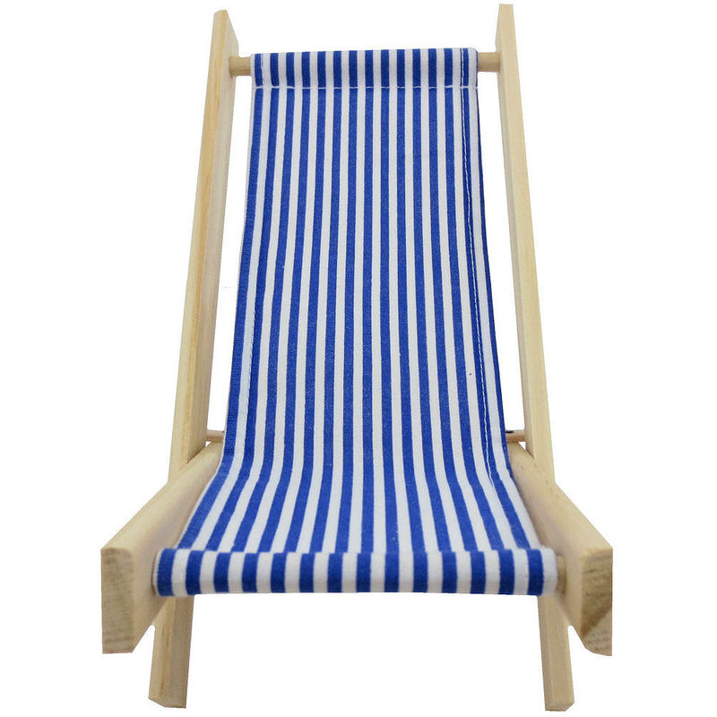 Toy Wood Lounge Folding Chair, Blue U0026amp; White Stripe Fabric   Product  Images Of