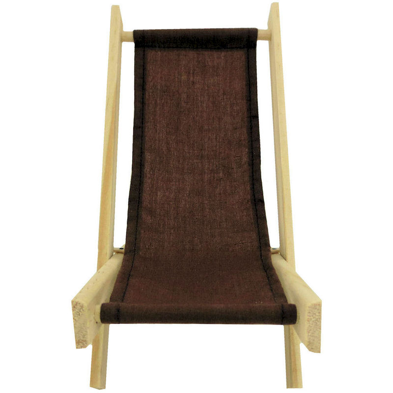 Toy Wood Lawn Folding Chair, Brown Fabric   Product Images Of
