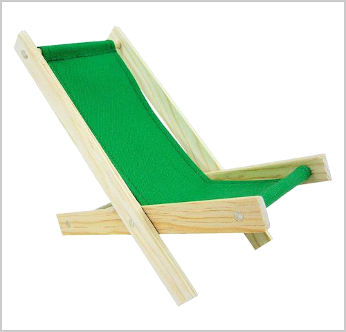 Green toy lounge chair