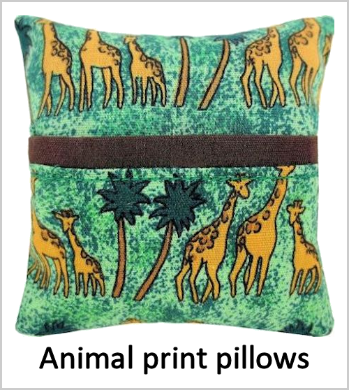 Animal print tooth fairy pillows for boys or girls