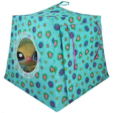 Aquamarine,Toy,Play,Pop,Up,Tent,,2,Sleeping,Bags,,flower,&,heart,print,fabric,toy play pop up tent,toy pop up tent,fabric toy tents,kids play tents,aquamarine tent,flower and heart print tent,girls toy,Littlest Pet Shop,stuffed animal tent,house for dolls,doll camping tent,pink sleeping bags,handmade  play tent,toytentsandchairs