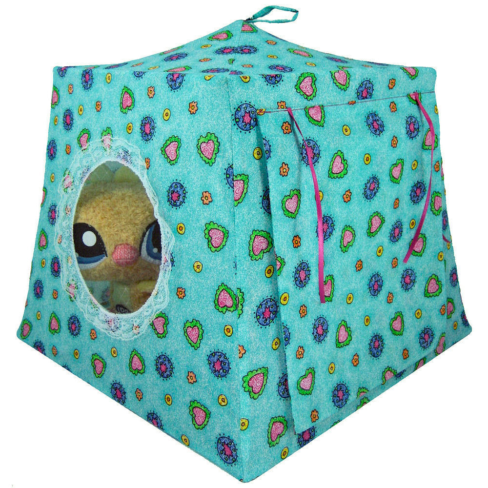 AquamarineToyPlayPopUpTent2Sleeping  sc 1 st  Toy Tents And Chairs & Aqua print toy pop up tents for girls Collection - Toy Tents And ...