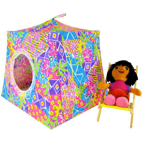 Multicolor,Toy,Play,Pop,Up,Tent,,2,Sleeping,Bags,,pastel,print,fabric,toy play pop up tent,fabric toy tents,doll house,multicolor tent,pastel fabric tent,toy for girls,Dora tent,doll tents,toy dollhouse,play tent,yellow sleeping bags,handmade,toytentsandchairs